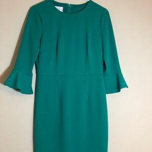Teal Donna Morgan Bell Sleeve Dress